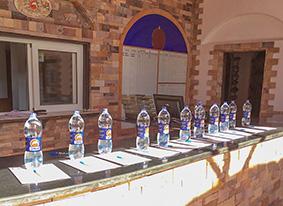 Wasserflaschen für die Gäste